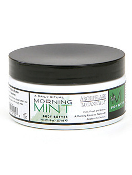 Peppermint infused beauty products - bath abd beauty products using natural herbs - Morning Mint Body Butter by Archipelago Botanicals