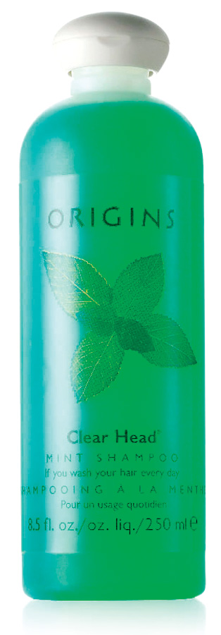 Peppermint infused beauty products - bath abd beauty products using natural herbs - Clear Head Mint Shampoo by Origins